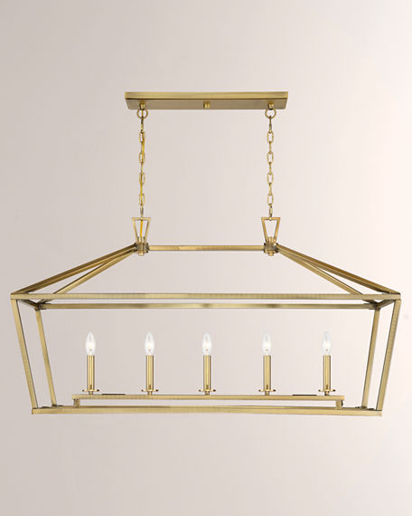 Image 2 of 4: Townsend Five-Light Linear Chandelier
