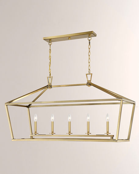 Image 3 of 4: Townsend Five-Light Linear Chandelier