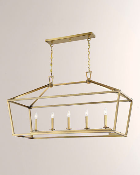 Image 4 of 4: Townsend Five-Light Linear Chandelier