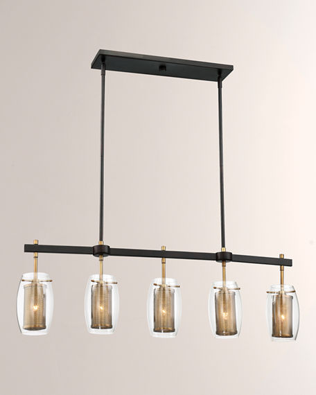 Image 2 of 3: Dunbar Five-Light Linear Chandelier