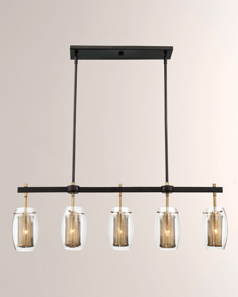 Dunbar Five-Light Linear Chandelier