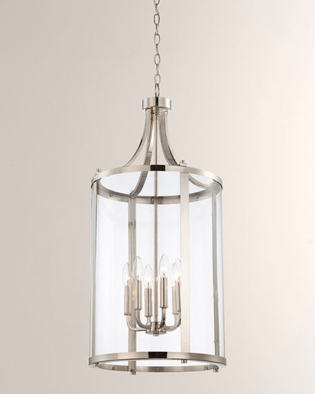 Image 3 of 3: Penrose 6-Light Medium Foyer Lighting Pendant