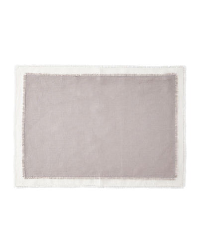 Farrell Colorblock Linen Placemats, Set of 4