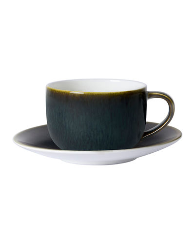 Art Glaze Cappuccino Cup and Saucer