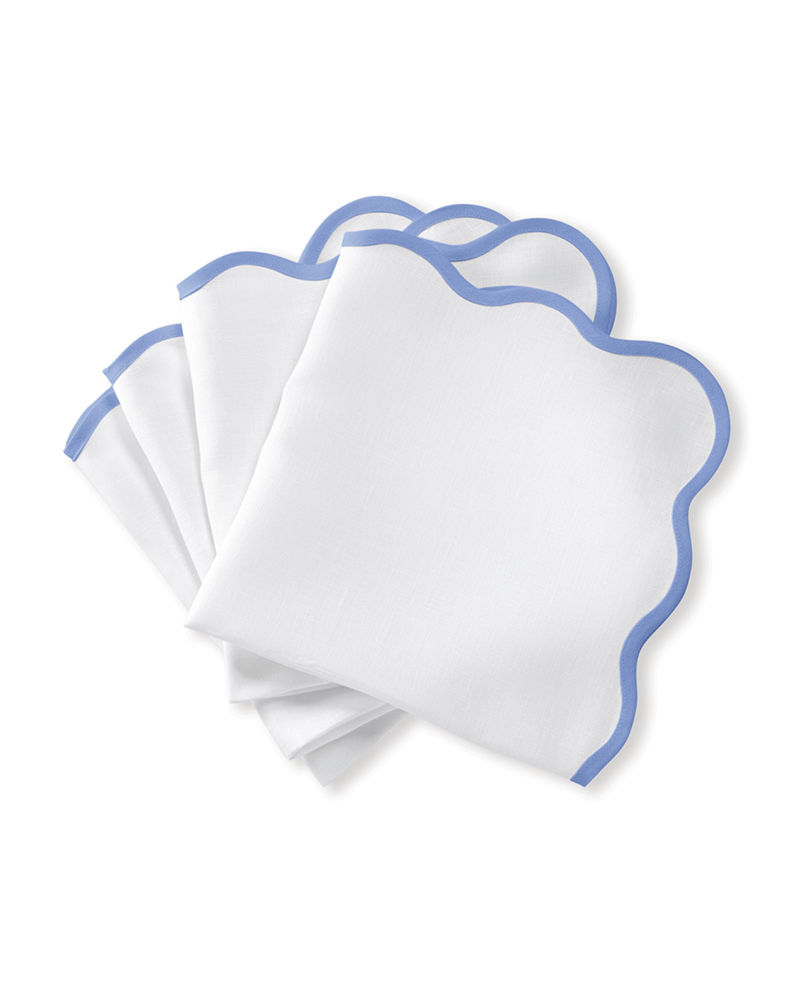 Matouk Casual Couture Scallop Napkins, Set of 4