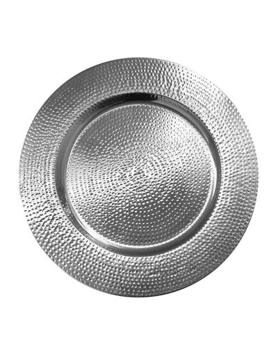 Hammered Charger Plates, Set of 4