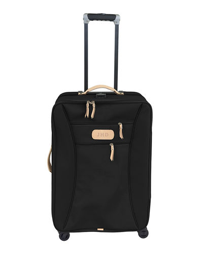 Monogrammed Large Wheels Spinner Luggage with Garment Sleeve