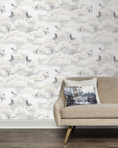 Asian Toile Removable Wallpaper
