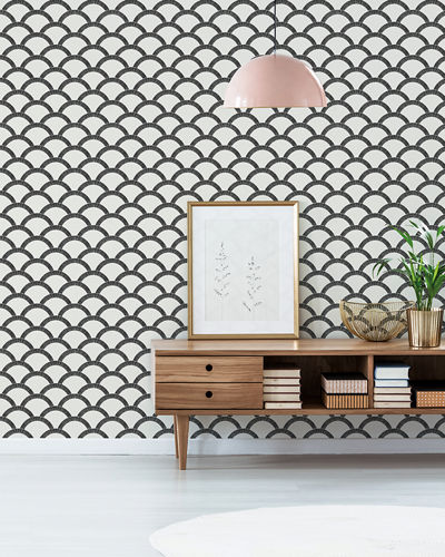 Mosaic Scallop Removable Wallpaper