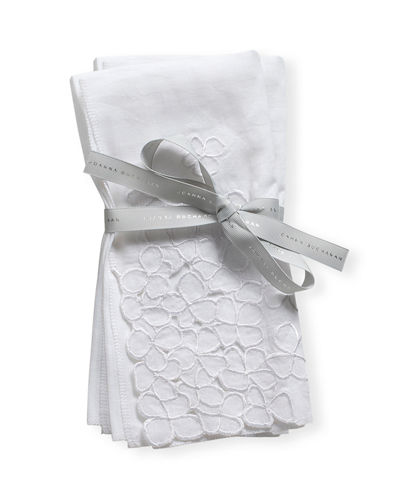 Hydrangea Embroidered Dinner Napkins, Set of 2