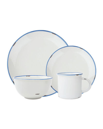 Tinware 4-Piece Place Setting
