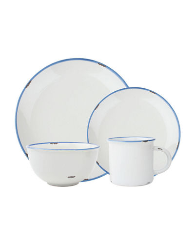 Tinware 16-Piece Dinnerware Set