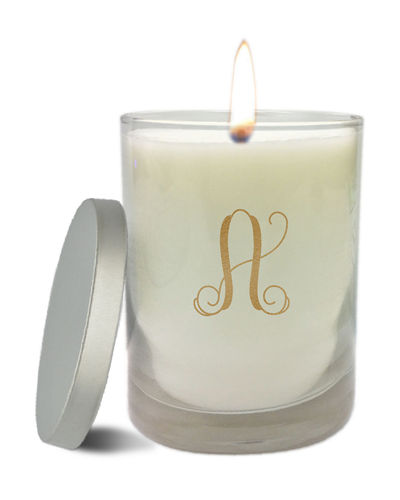 Monogram Clear Glass Candle