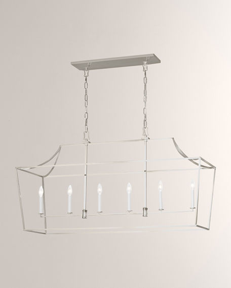 Image 1 of 2: C&M by Chapman and Myers Southold 6-Light Linear Lantern