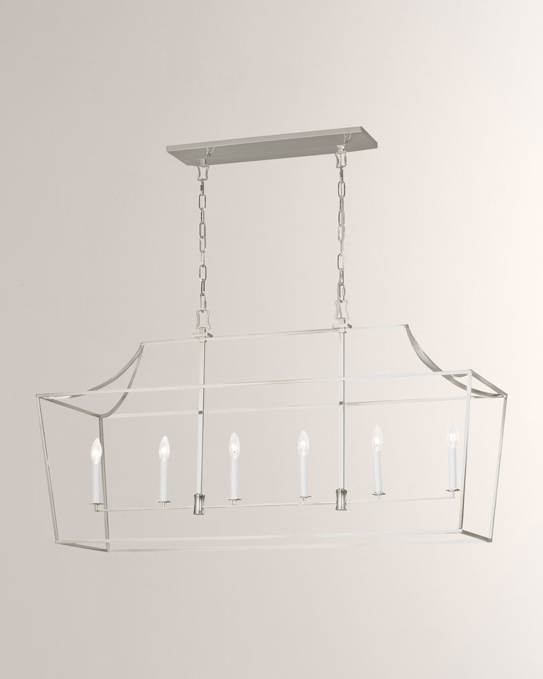 C&M by Chapman and Myers Southold 6-Light Linear Lantern