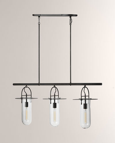 Linear 3-Light Chandelier