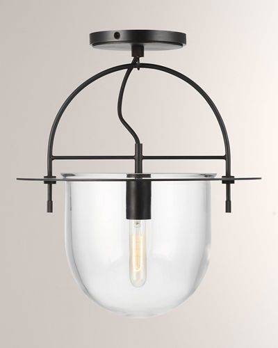 Medium 1-Light Semi Flush Mount
