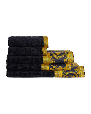 Versace Medusa Head Bath Sheet Set