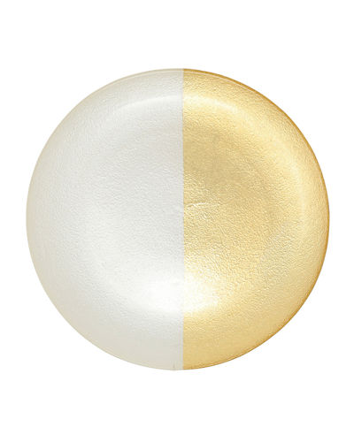 Two-Tone Glass Dinner Plate