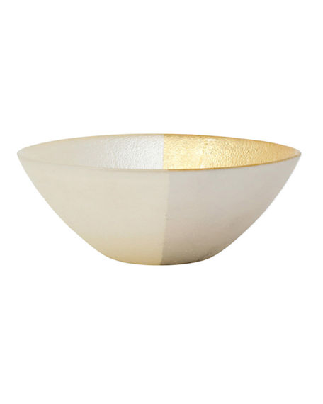 Image 1 of 2: Vietri Two-Tone Glass Cereal Bowl