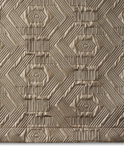 Dian Austin Couture Home Metallic Quilted King Sham