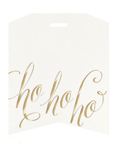 Bell'INVITO Ho Ho Ho Holiday Gift Tags, Box of 10