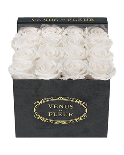 Venus ET Fleur Suede Small Square Rose Box