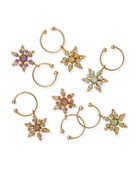 Joanna Buchanan Snowflake Wine Charms, Set of 6