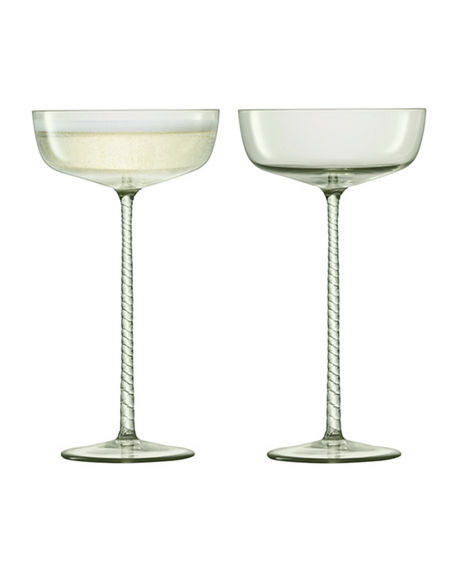 LSA Theatre Champagne Saucer Glasses, Set of 2