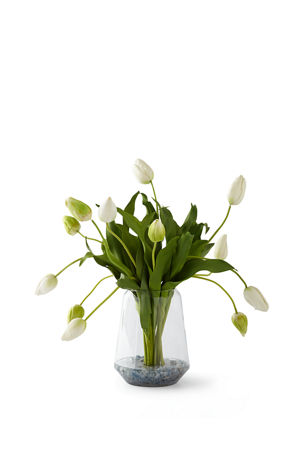 T&C Floral Company Dutch Tulips in Crushed Calcite
