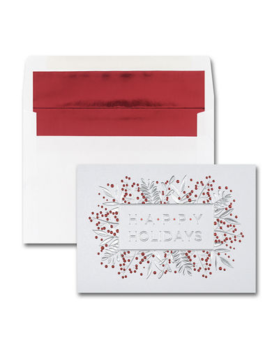 Carlson Craft 25 Cheery Berries Greeting Cards with Printed Envelopes