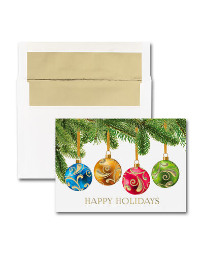 Carlson Craft 25 Nordic Merry Christmas Greeting Cards with Blank Envelopes