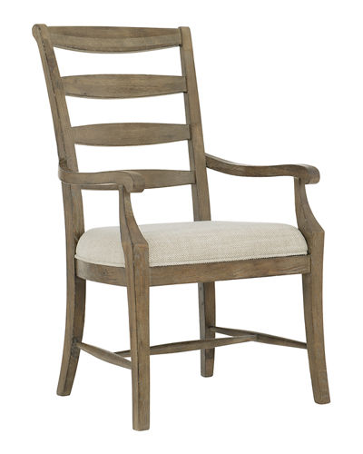Bernhardt Rustic Patina Ladderback Arm Chairs, Set of Two