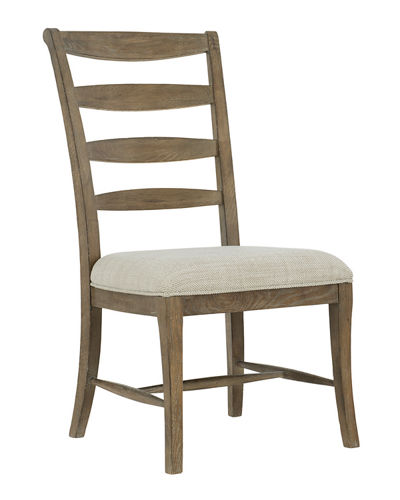 Rustic Patina Ladderback Side Chairs, Set of Two