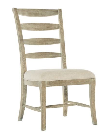 Bernhardt Rustic Patina Ladderback Side Chairs, Set of Two