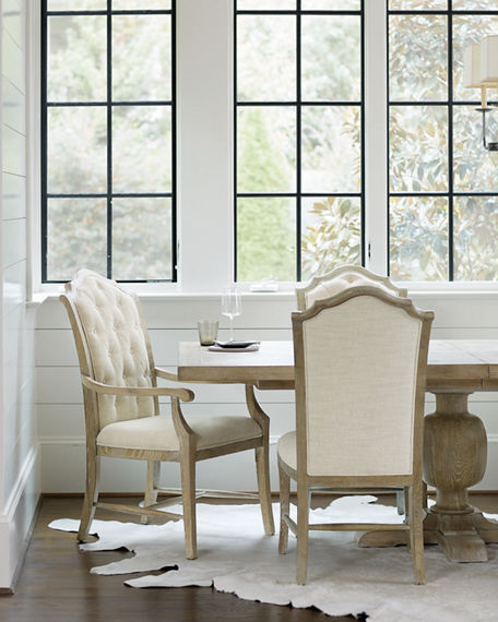 Bernhardt Rustic Patina Tufted Side Chairs, Set of Two