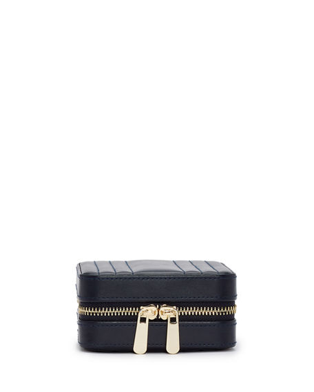 WOLF Maria Square Quilted Zip Jewelry Case