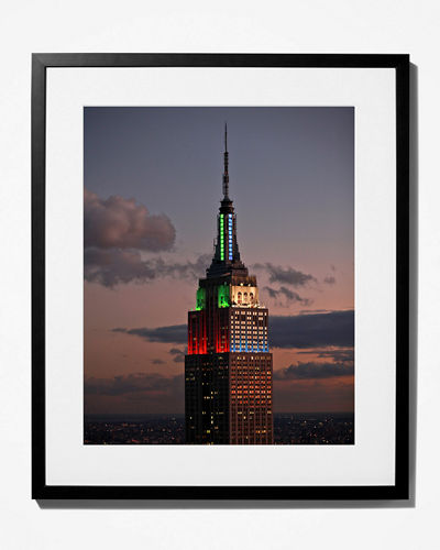 New York Times Empire State Building Aglow  Framed Photo Print - Small