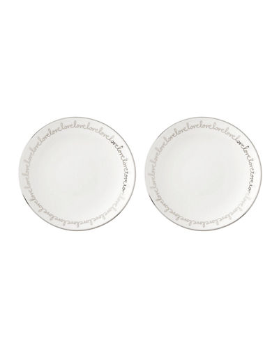 kate spade new york key court tidbit plates, set of two