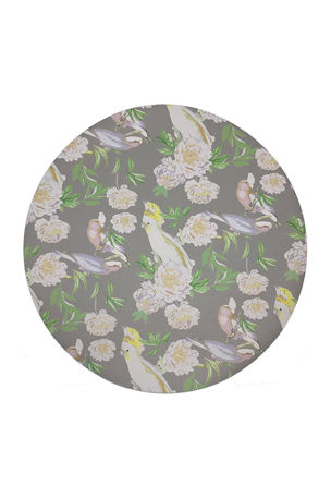 "Nicolette Mayer Peony Inspira 16"" Round Pebble Placemats, Set of 4"