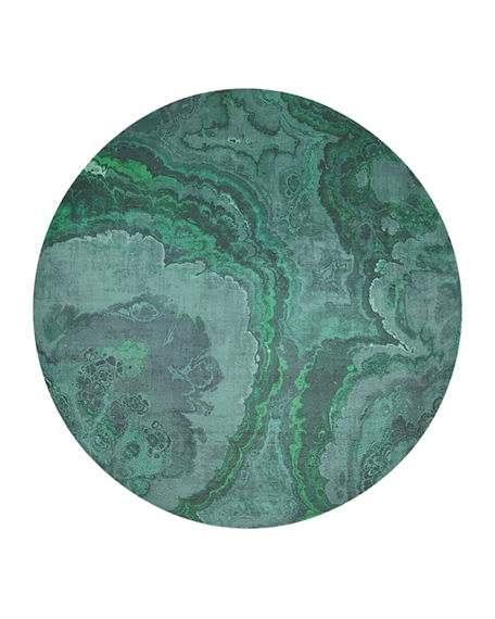 Nicolette Mayer Agate Round Pebble Placemats, Set of 4