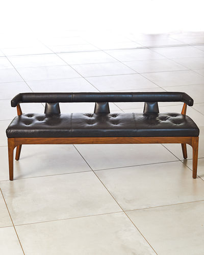 Moderno Leather Bench
