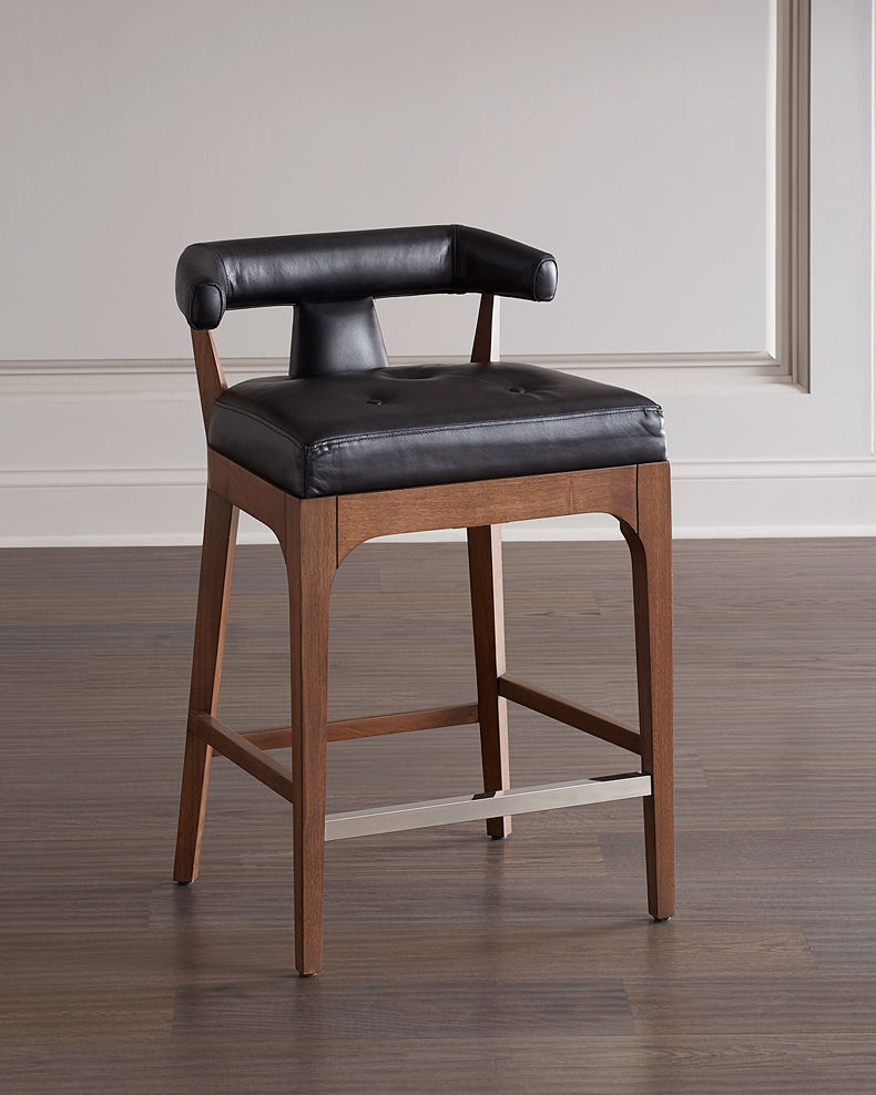 Global Views Moderno Leather Counter Stool