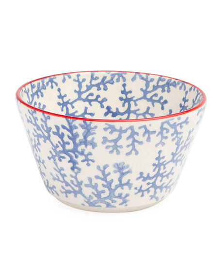 Blue Pheasant Sienna Coral Cereal/Ice Cream Bowls, Set of 4