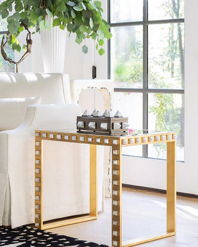 Quartz Stud End Table