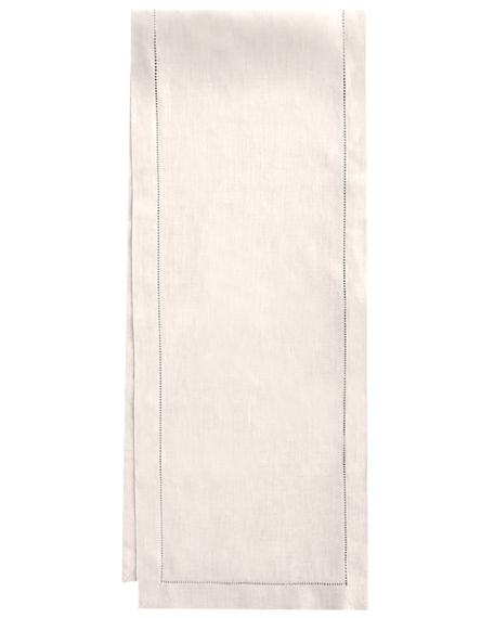 "Sferra Hemstitch Table Runner, 15"" x 72"""