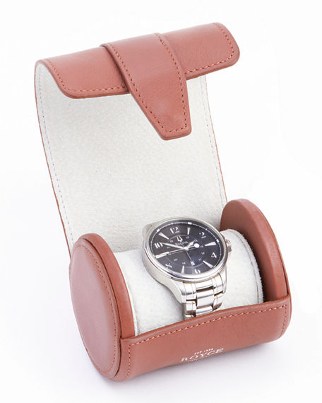 Image 2 of 3: ROYCE New York Suede Lined Single Watch Roll