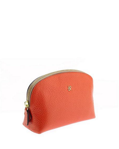 Rapport Grained Leather Small Makeup Bag