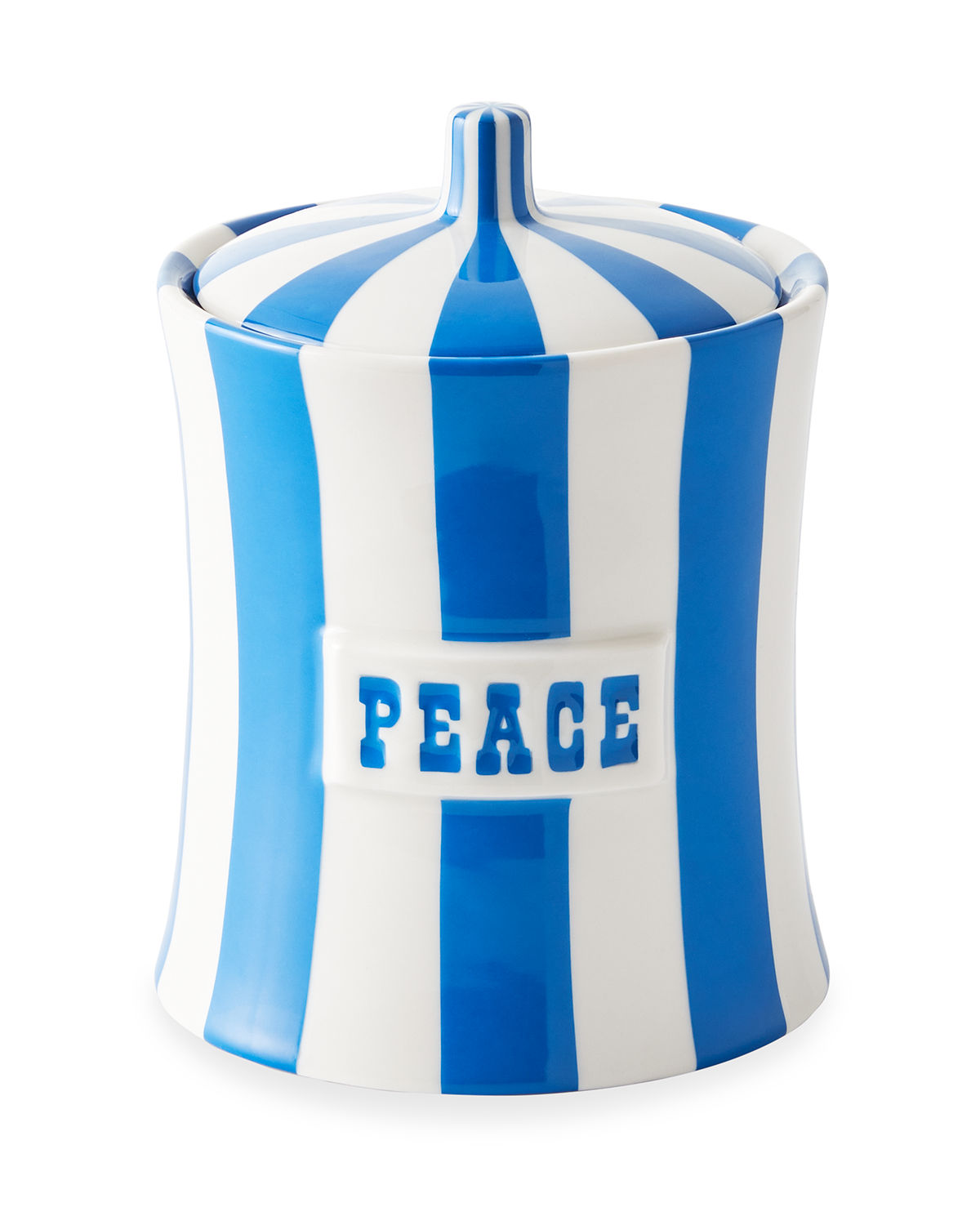 Jonathan Adler Vice Stripe Peace Canister In Blue