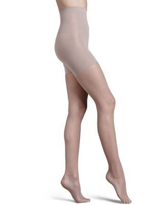 Uptown Tight-End Tights, Micro Fishnet in Nude